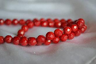Minerály - Červený koral fazetovaný 6mm, 0.25€ - 6501891_