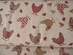 Textil - látka sliepočky - 6502089_