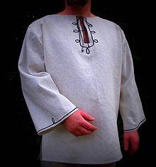 Oblečenie - Pánska ľanová košeľa - 6501736_