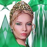 Ozdoby do vlasov - Smaragdová cárovná, Typ 66a - 6508366_
