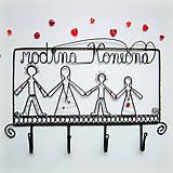 Nábytok - rodinný vešiak - 6505748_
