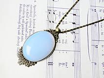 - Opalite & Bronze / Výrazný náhrdelník s opalitom v bronzovom prevedení - 6505692_