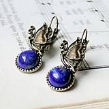 Lapis Lazuli & Butterfly / Náušnice s lazuritom a motýlikom