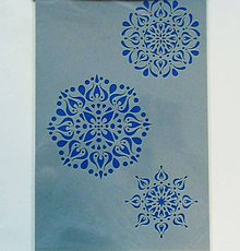 Pomôcky/Nástroje - Šablóna - 20x30 cm - mandala, 3 ks, folk - 6504414_