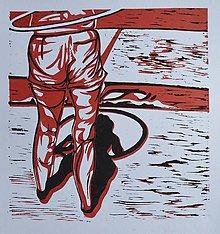 Grafika - Pozadie - grafika - dvojfarebný linoryt... - 6505984_