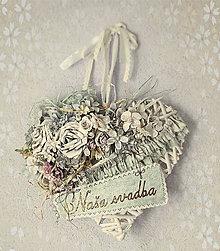 Dekorácie - Srdce veniec - Naša svadba - 6505782_