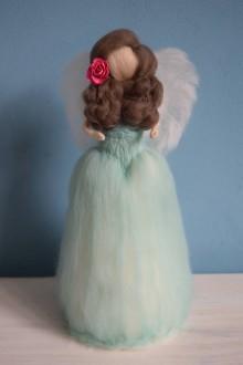 Dekorácie - Mentolová princezná anjelik - 6504624_