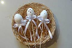 Dekorácie - Maderiové vajcia - zápich - 6506088_