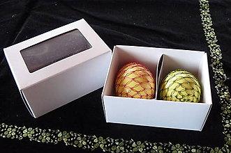 Obalový materiál - Darčeková krabička na 2 kraslice - 6505544_