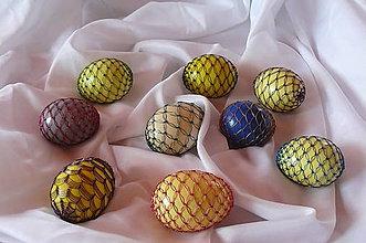 Dekorácie - Opletané vajcia - 6506050_
