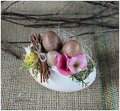 Dekorácie - Vajíčka vo vajci - 6504892_