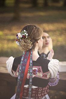 """Ozdoby do vlasov - Set ľudová spona s hrebienkom z kolekcie """"Na ľudovú nôtu"""" - 6505662_"""