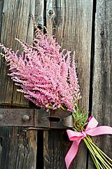 Kytice pre nevestu - Ružová kytička z astilbe - 6507968_