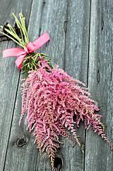 Kytice pre nevestu - Ružová kytička z astilbe - 6507970_