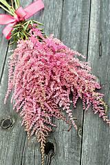 Kytice pre nevestu - Ružová kytička z astilbe - 6507971_