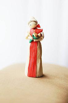 Dekorácie - Dievčina s kytičkou makov alebo kvetmi - 6505253_