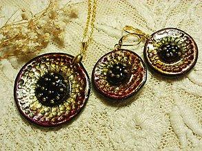 Sady šperkov - náušničky s príveskom.. - 6507192_