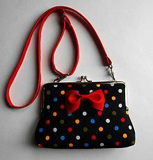 Detské tašky - červená bodkaňa - 6505061_