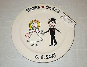 Nádoby - Svadobný tanier - 6505707_