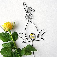 Dekorácie - zajko- zápich do kvetináčika - 6509857_