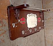 Nábytok - Starožitný vešiak so zrkadlom - 6509694_