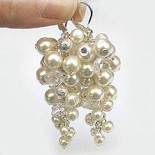 Náušnice - Svadobné náušnice perlové Ivory - 6511293_