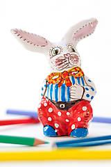 Dekorácie - Veľkonočný keramický zajačik - 6509999_
