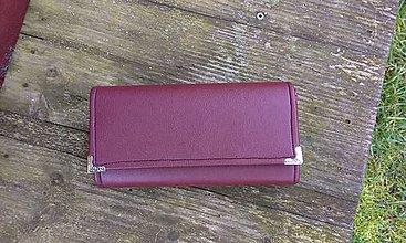 Peňaženky - Koženková peňaženka na 6 kariet - 6509053_