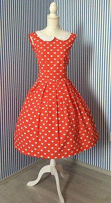 Šaty - Peter Pan šaty - srdce - 6511175_