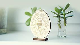 Dekorácie - Veľkonočná dekorácia zajkovia a vajíčko - 6511033_