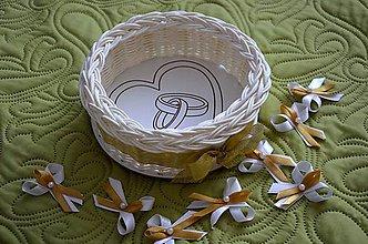 Košíky - Košík na svadobné pierka - 6512092_
