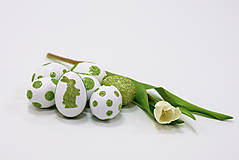 """Dekorácie - Veľkonočné vajíčka """"Trblietavé kraslice"""" - 6509792_"""