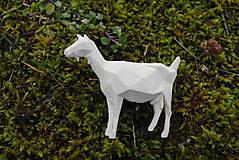 Odznaky/Brošne - Koza - brošňa vytlačená na 3D tlačiarni - 6509491_
