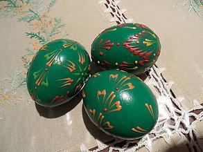 Dekorácie - vajíčka na zeleno - 6513024_