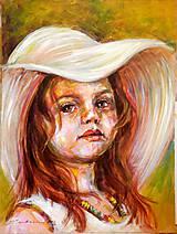 Hnedoočko v klobúku