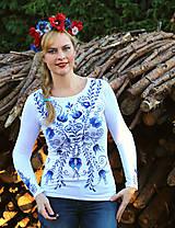 Tričká - Aničkina voľba II - ornamenty na rukávoch aj chrbáte... - 6508758_