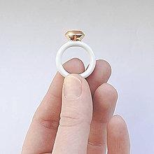 Prstene - Psteň zlatý Diamant / RING RING Diamond GOLDEN  - 6509461_
