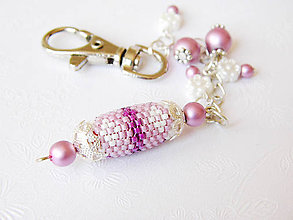 Kľúčenky - Šitý prívesok / ozdoba na kabelku - 6512043_