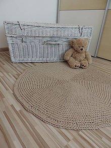 Úžitkový textil - Okrúhly koberec - svetlohnedý - 6511341_