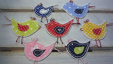 Odznaky/Brošne - Brošňa vtáčik - 6512756_