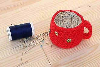 Úžitkový textil - Ihelníček šálka - 6515253_