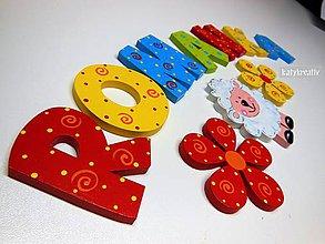 Tabuľky - drevené písmenká - 6517638_