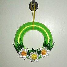 Dekorácie - Veľkonočný venček na dvere - 6517293_