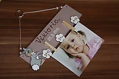 Detské doplnky - Vešiak na fotku - zajačik - 6515683_