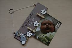 Detské doplnky - Vešiak na fotku - zajačik - 6515686_