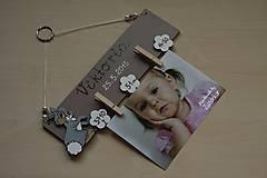 Detské doplnky - Vešiak na fotku - zajačik - 6515687_
