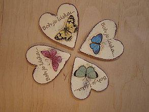 Magnetky - kresťanské - magnetka motýľ - 6515169_