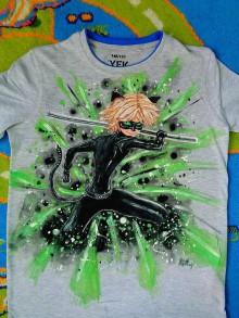 Detské oblečenie - maľované tričko - 6513953_