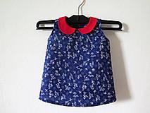 modrotlačové šaty pre dievčatko