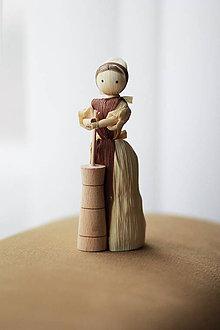 Dekorácie - Ženuška s maselničkou - 6516021_